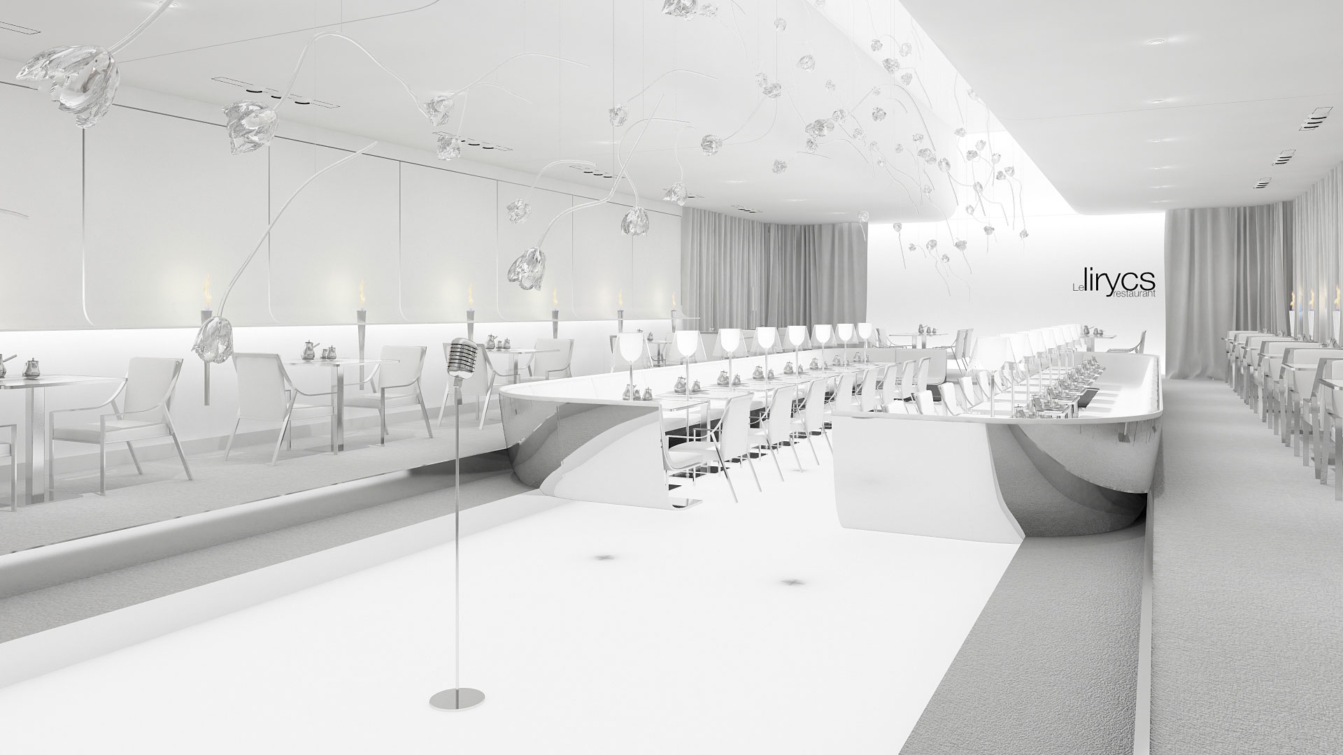 concert retaurant design, concert lyrique