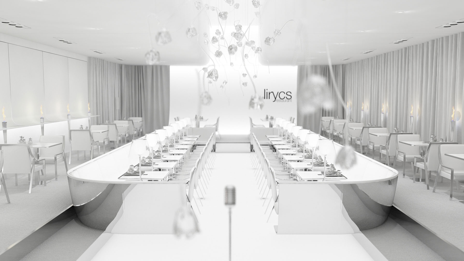 restaurant contemporain aix en provence, festival lyrique aix en provence, rose en verre, chaise aileron, christophe pillet, restaurant design